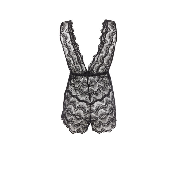 Alaciz black short romper;