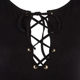 Dilitiz black bodysuit black.