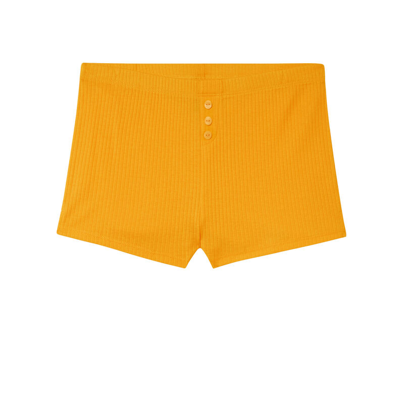 короткие однотонные шорты - манговый;