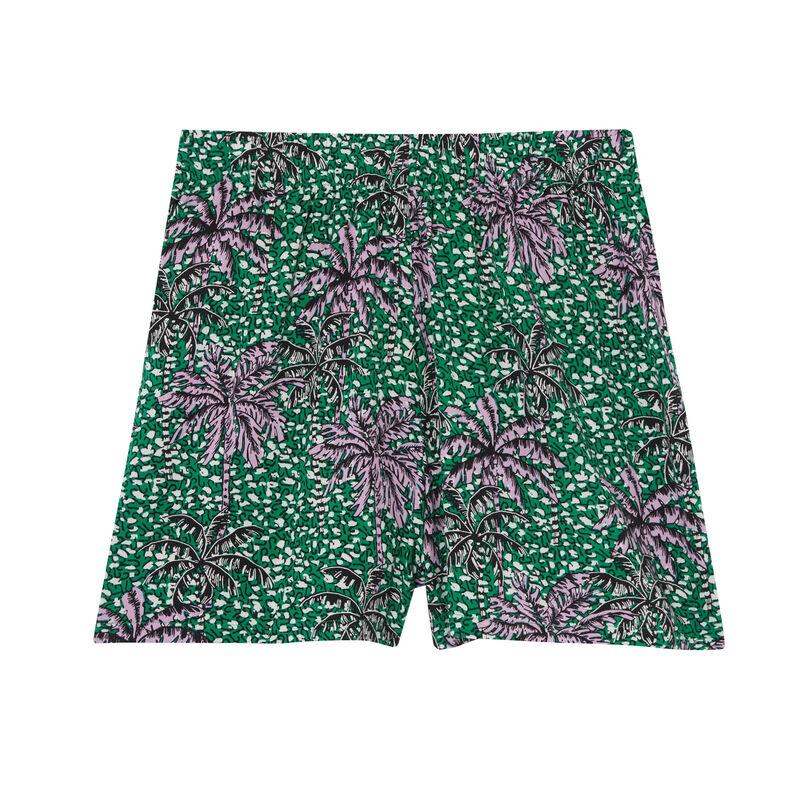 palm tree print shorts - green;