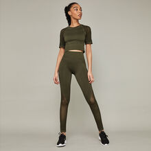 Savatiz green leggings green.