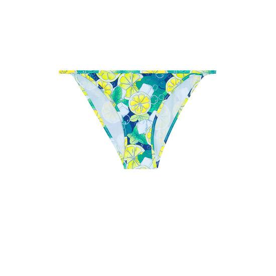 Crazymojitiz navy blue bikini briefs;