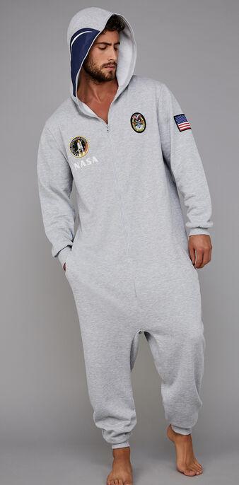 Grauer herren-jumpsuit cosmoniz grey.