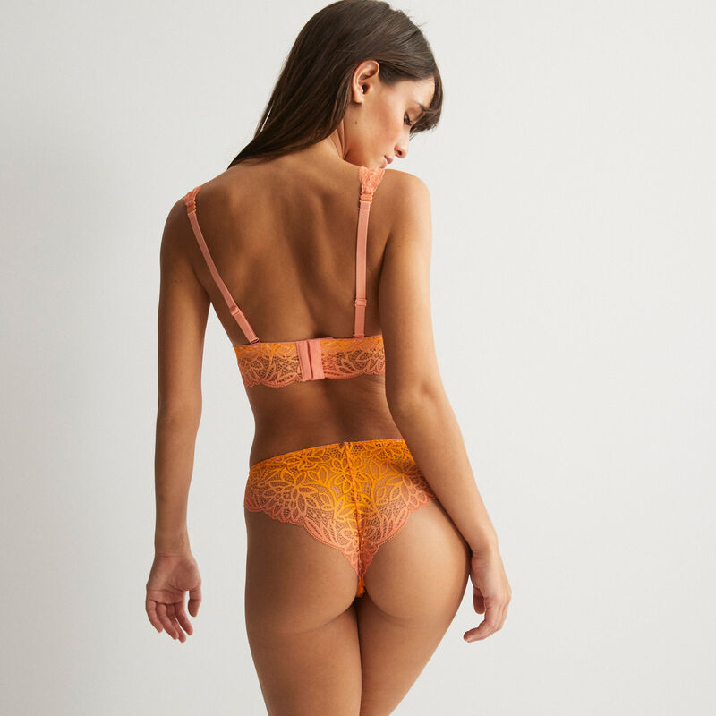 Foulard triangle bra with jewel, no underwiring - mango;