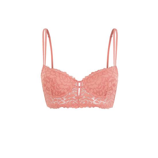 Розовый бюстгальтер-бюстье с уплотненными чашками luluiz;