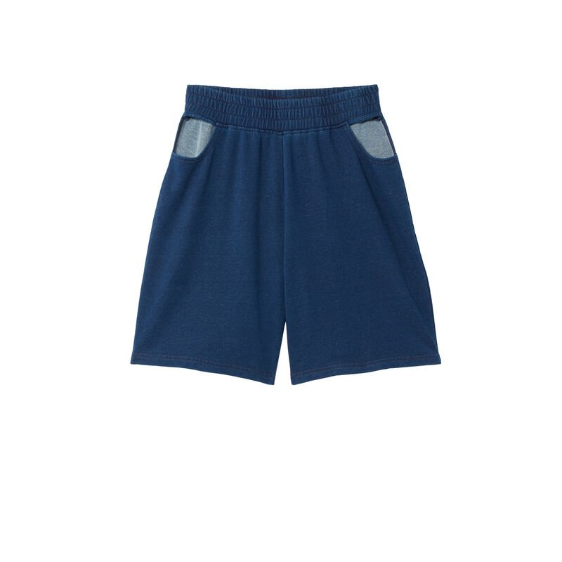 shorts with openwork hips - blue;
