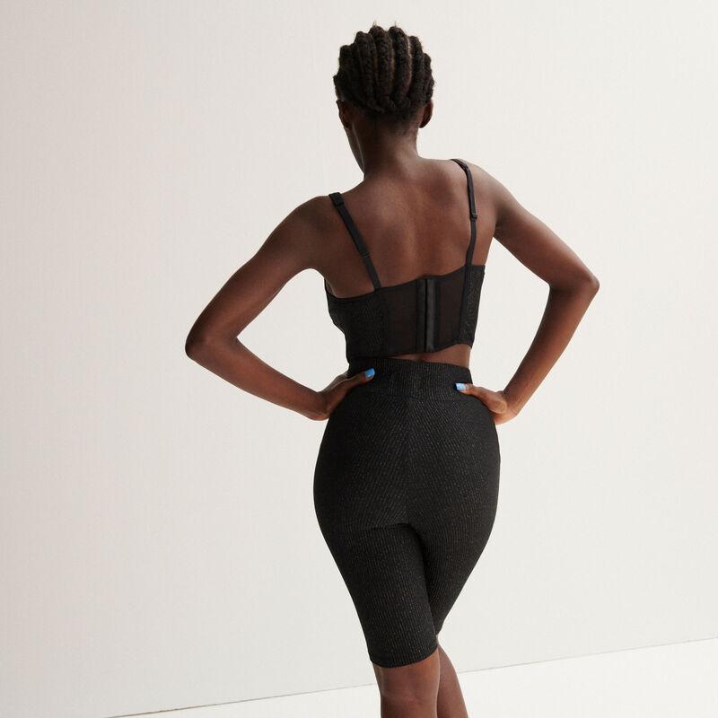 Aya x undiz lace bustier - black;