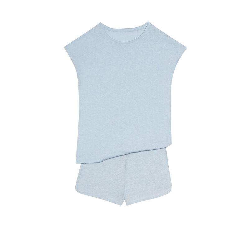 plain pyjama set - blue;
