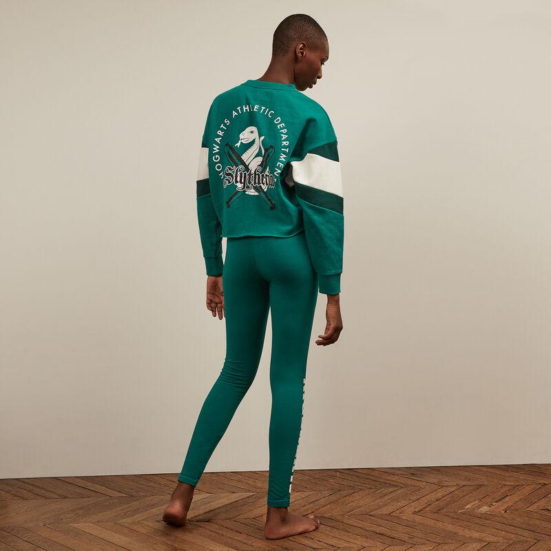 Slytherin printed leggings - green;