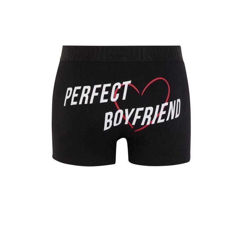 Perfectboyiz cotton boxers with slogan;