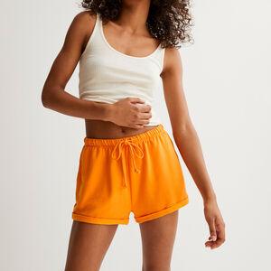 однотонные шорты со шнурком-завязкой - оранжевый