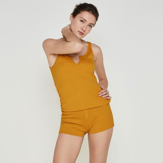 Newdebidiz ochre shorts;
