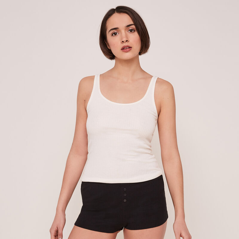 Newdebidiz plain ribbed shorts;