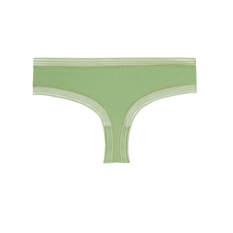 lace trim shorty - green;