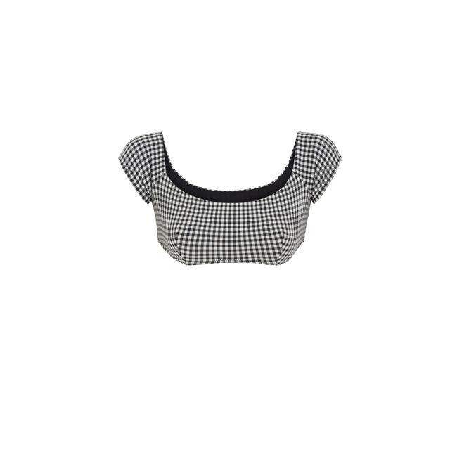 Victoriz black cold-shoulder top;