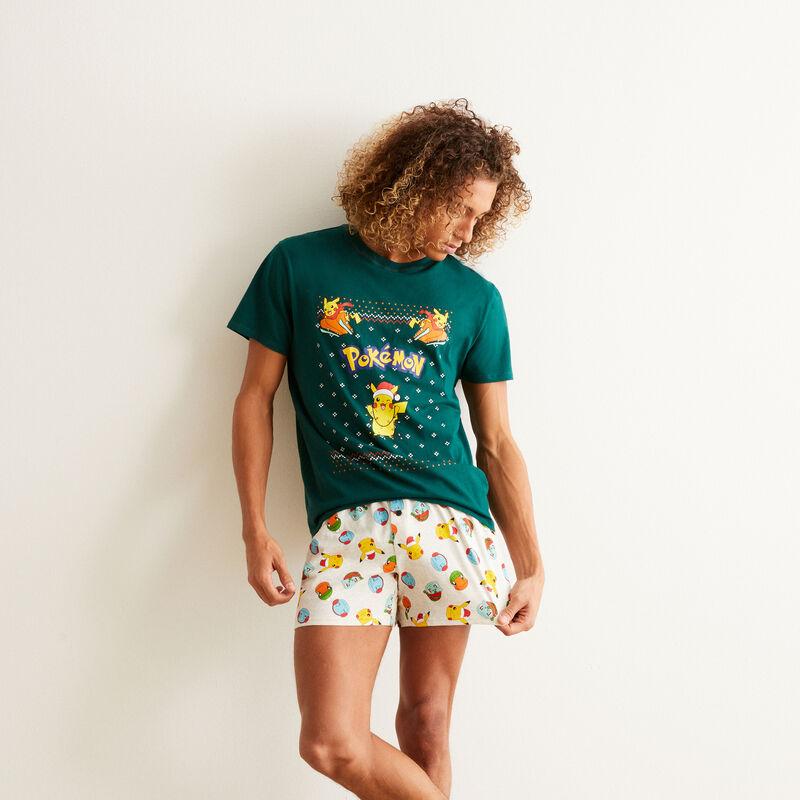 Pokemon pyjama shorts set - green;