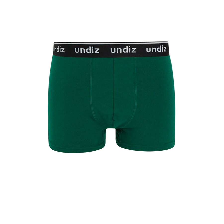 Зеленые хлопковые трусы-боксеры chagardiz;