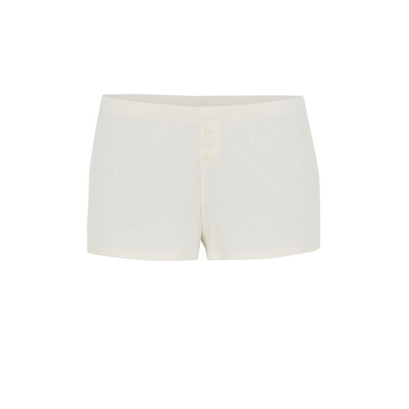 Plain short shorts - ecru;
