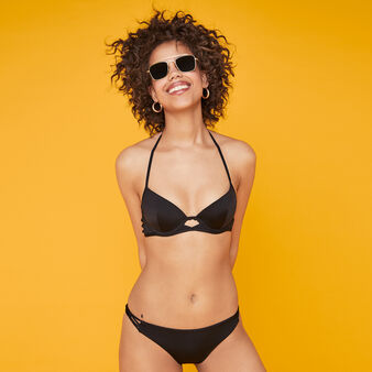 Gabiz black push-up bikini top black.