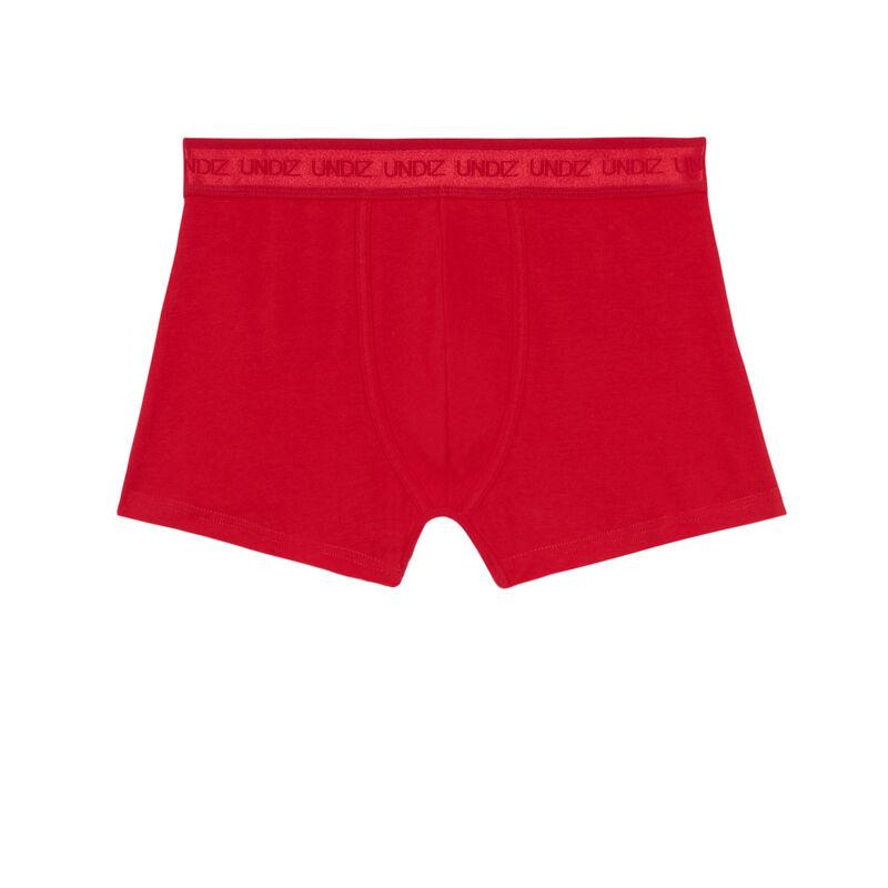 bokserki z napisem on fire — kolor czerwony;
