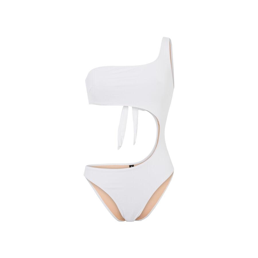 Trikiniz white one-piece swimsuit;