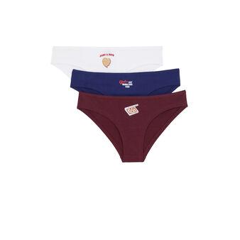 Pair of petidejiz underwear biały.
