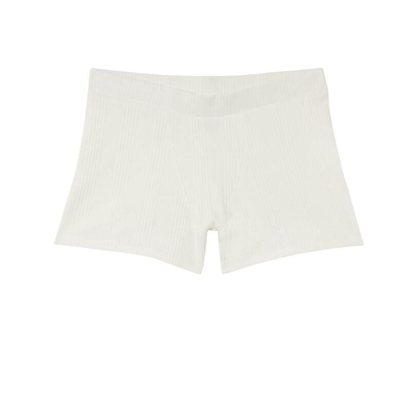 Plain jersey unisex shorts - beige;