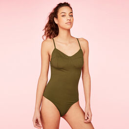 Shoulderiz khaki bodysuit green.