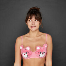 Bisousouiz pink bra pink.