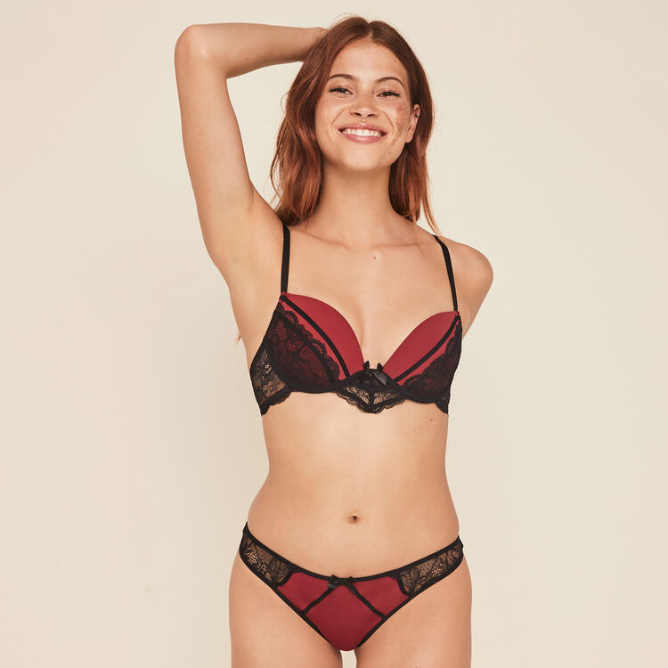 Princiz new lace push-up bra;