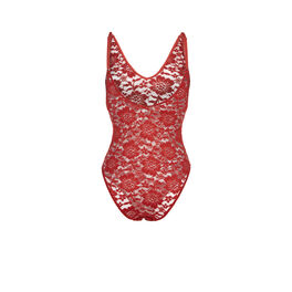 Maewiz red brick bodysuit red.
