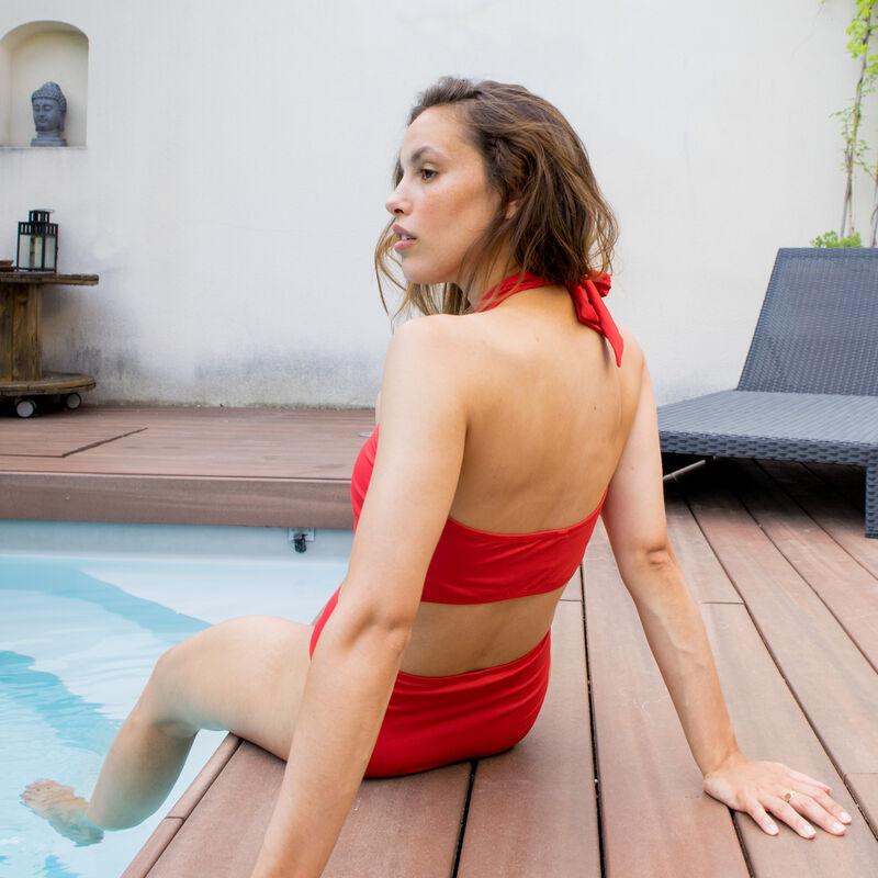 scarf bralette bikini top - orange;