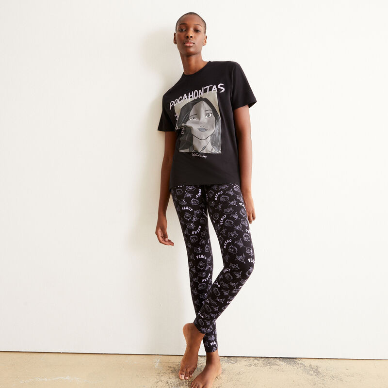 Pocahontas short-sleeved pyjama set - black;