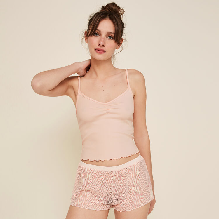 Dentebiz powder pink top;