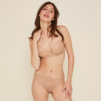 New voltiz nude padded demi-cup bra skin.