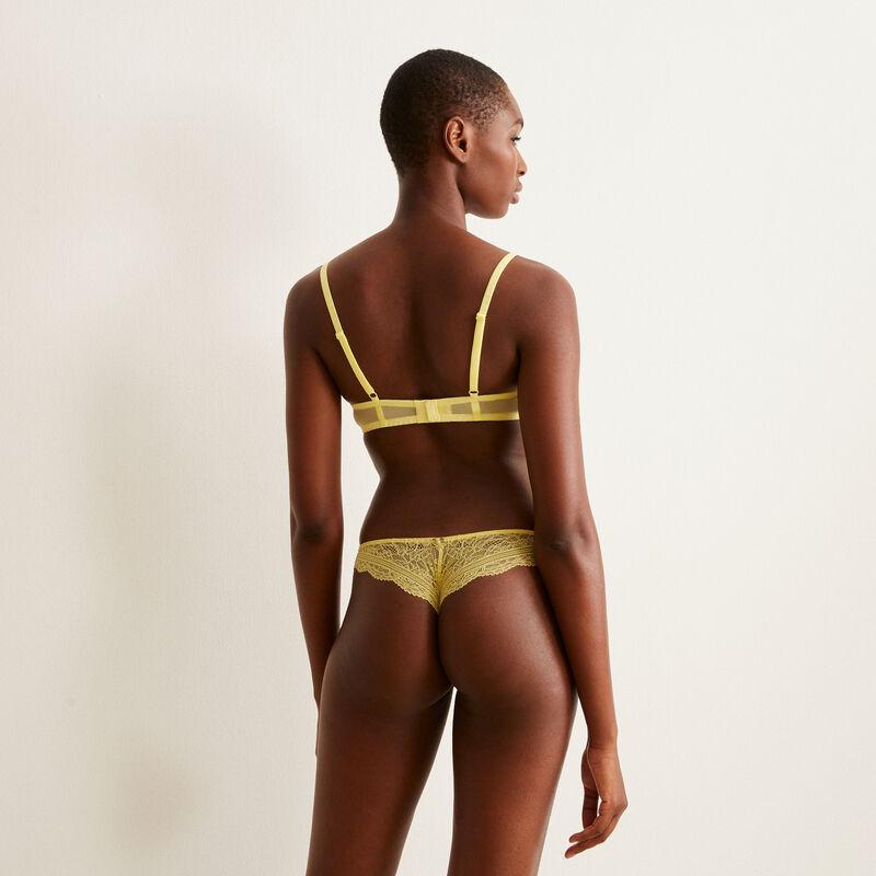 lace tanga - yellow;