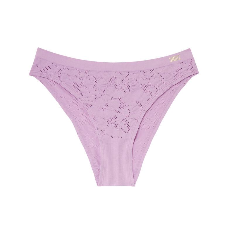 high-waisted jacquard-effect briefs - lilac;