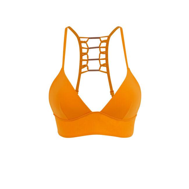 Africaniz orange triangle bikini top;