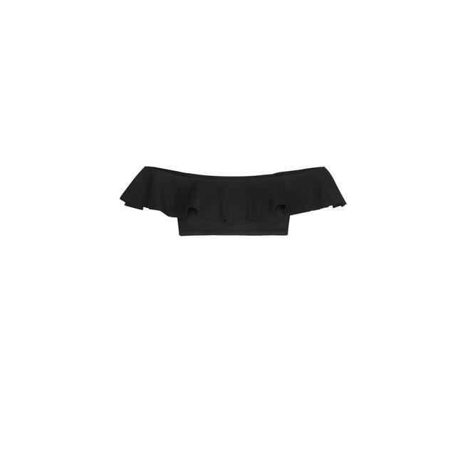 Sabliz black cold-shoulder top;