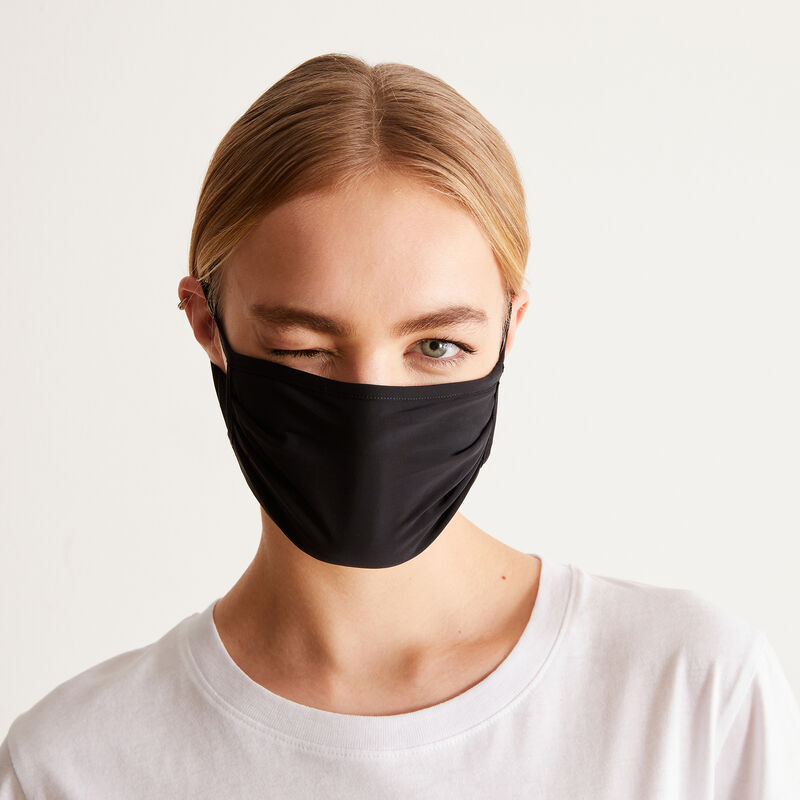 Pack of three 'nothing to hide' masks - black;