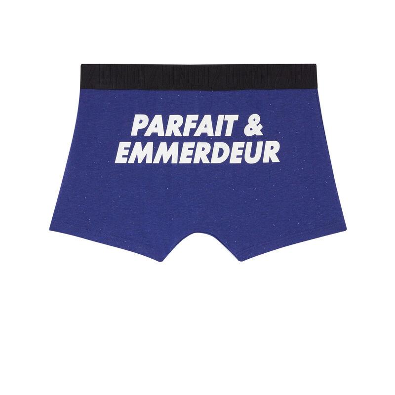 undiz elastic printed boxer - blue;