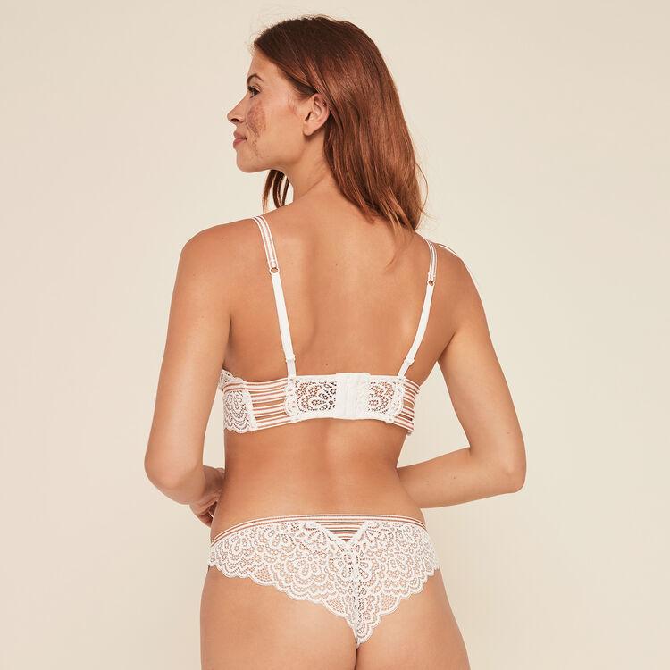 Lurexbandiz lace wireless triangle bra;