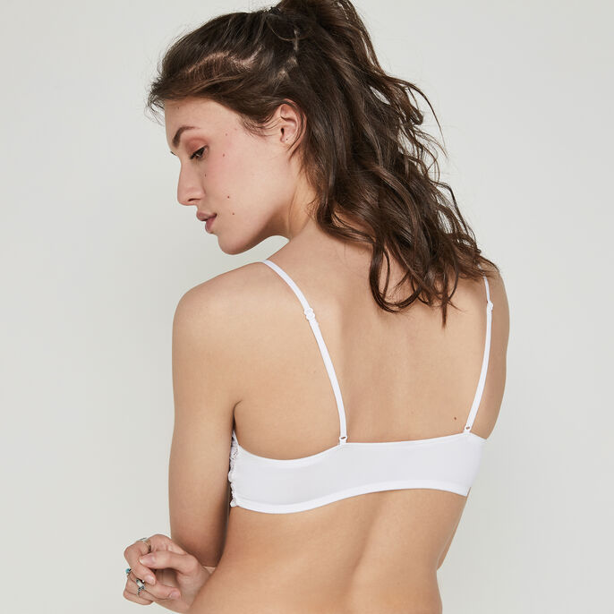 Bollywoodiz white triangle bra white.