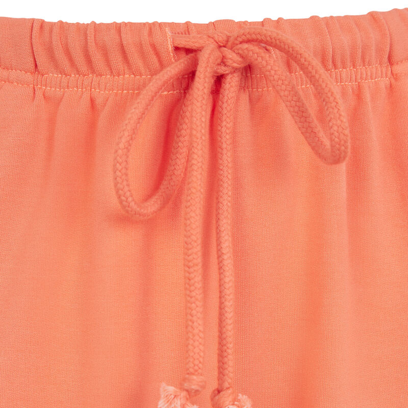 fleece shorts - orange ;