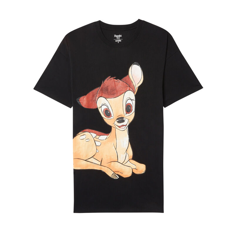 bambi print tunic - black;