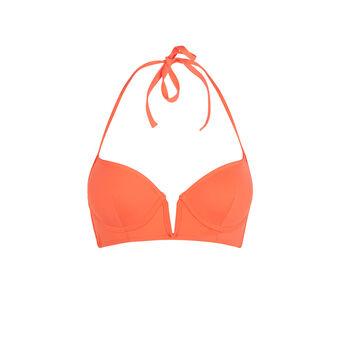 Creoliz orange push-up swimsuit top orange.