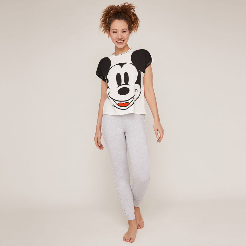 Short-sleeved Mickey top - cream;
