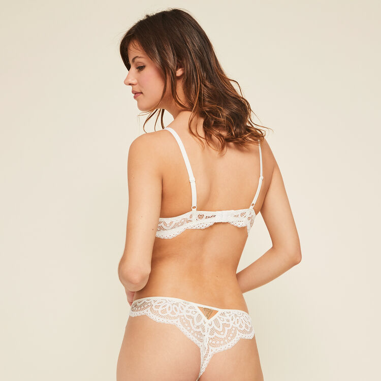 PRECIEUSIZ white PUSH-UP BUSTIER BRA;