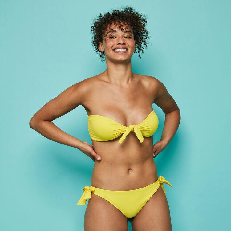 Sexyknotiz yellow bikini top;