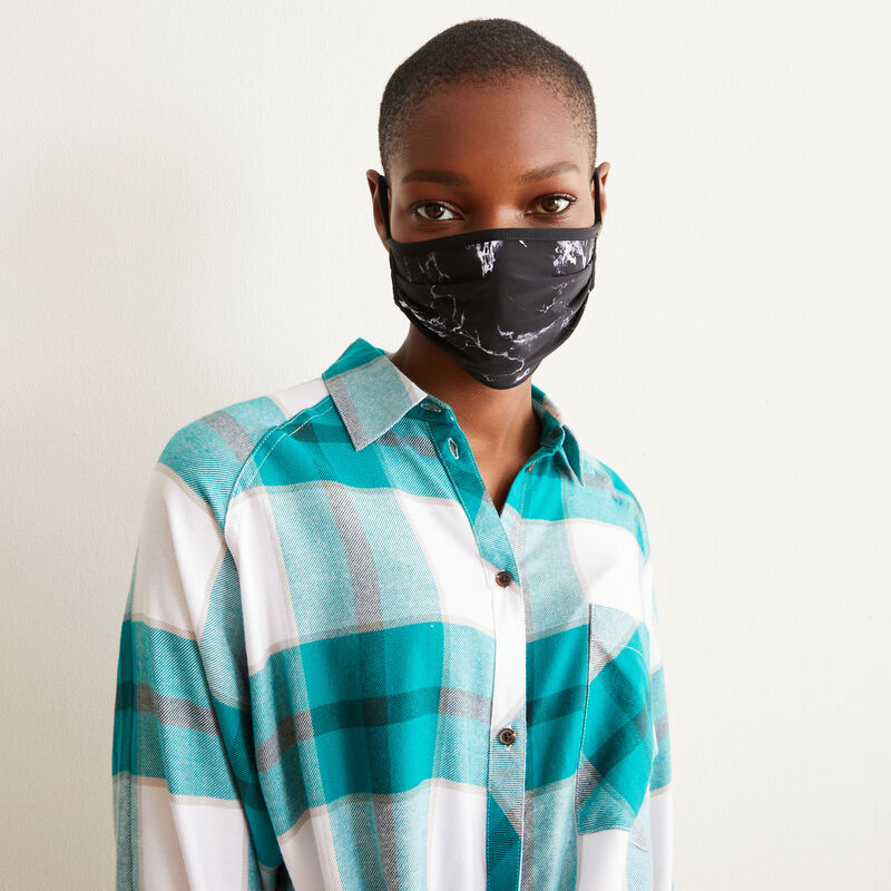 marbled mask - black;